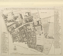 A MAP OF ST. GILESS CRIPPLE GATE WITHOUT (1755)